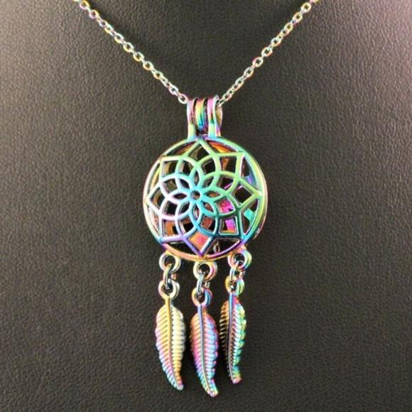 Jewelry alloy multicolored dream catcher pendant necklace poshmark alloy multi colored dream catcher pendant necklace aloadofball Image collections